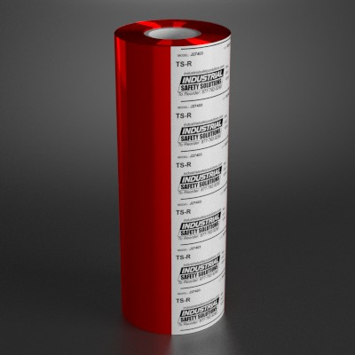 6.8in x 984ft Red Wide Format Ribbon