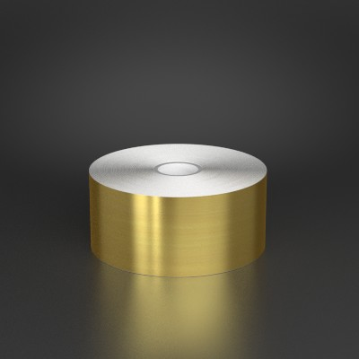 2in x 150ft Brushed Gold Metalized Film