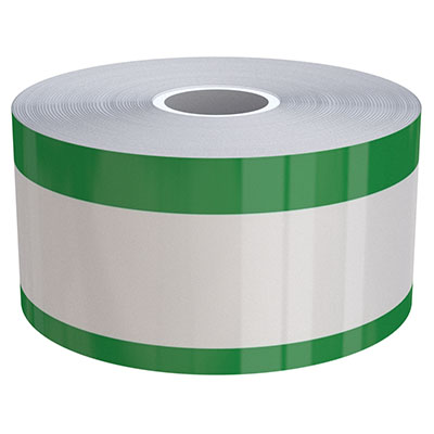 2in x 70ft Peak-Performance Continuous Double Green Stripe