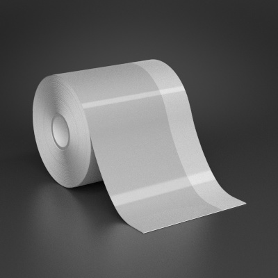 4in x 70ft Wire wraps with 1in printable white stripe