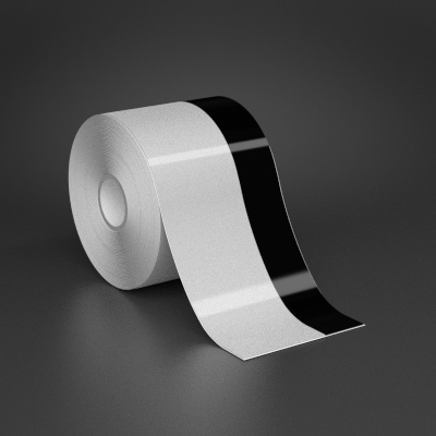 3in x 70ft Wire wraps with 1in printable black stripe