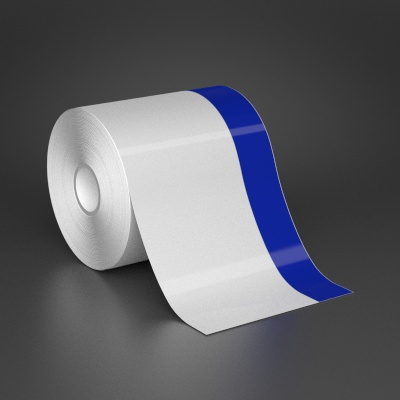 4in x 70ft Wire wraps with 1in printable blue stripe