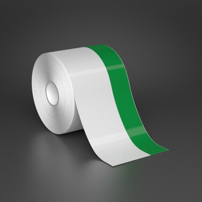 3in x 70ft Wire wraps with 1in printable green stripe