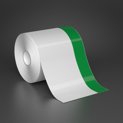 4in x 70ft Wire wraps with 1in printable green stripe