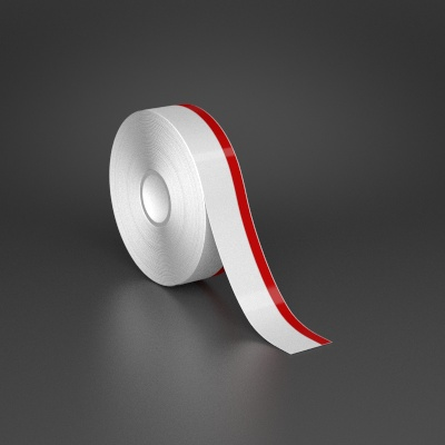 1in x 70ft Wire wraps with 0.25in printable red stripe