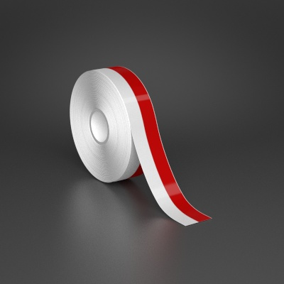 1in x 70ft Wire wraps with 0.5in printable red stripe