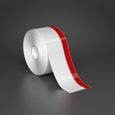 2in x 70ft Wire wraps with 0.5in printable red stripe