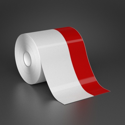 4in x 70ft Wire wraps with 1.5in printable red stripe