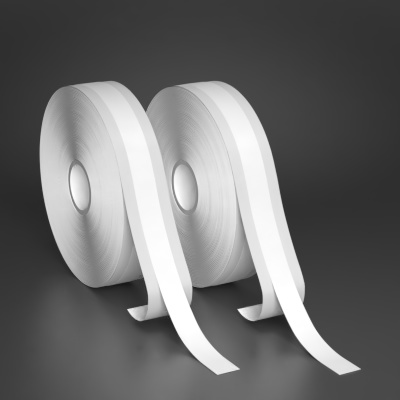 0.5in x 130ft White UltraPeel premium vinyl tape 2-Pack