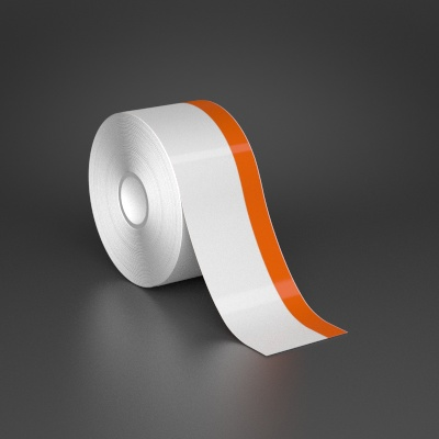 2in x 70ft Wire wraps with 0.5in printable orange stripe