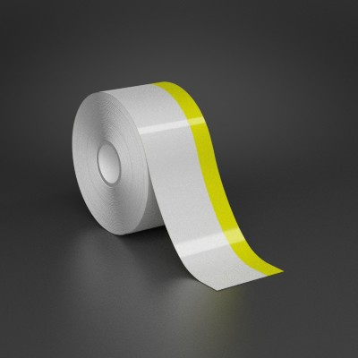 2in x 70ft Wire wraps with 0.5in printable yellow stripe
