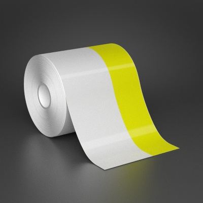 4in x 70ft Wire wraps with 1.5in printable yellow stripe